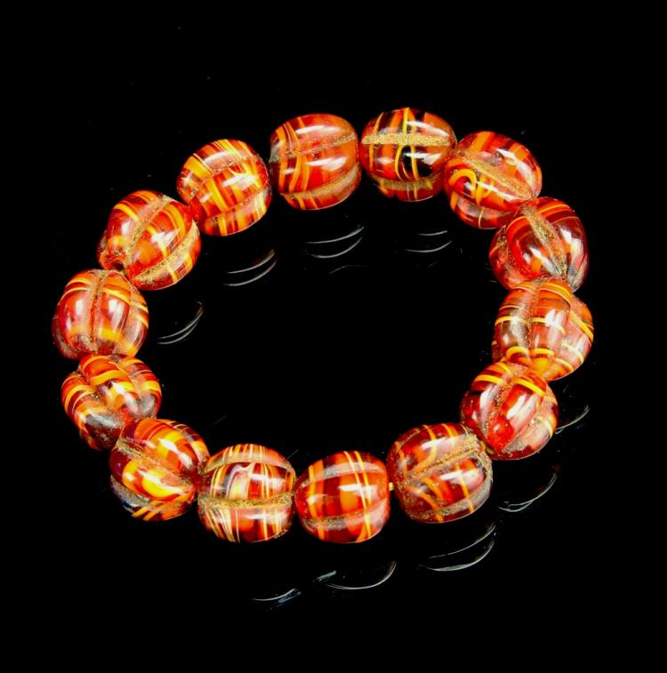 Chinese Agate Bracelet