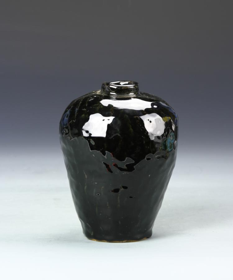 Black Art Pottery Vase