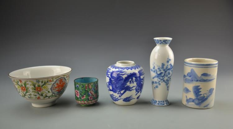 Chinese Five Vintage Items