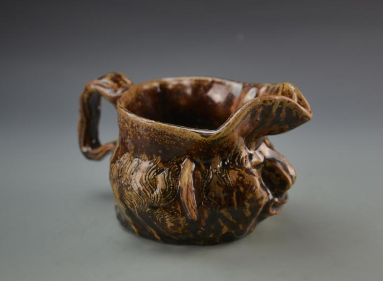 Art Pottery Mug, Signed Kati