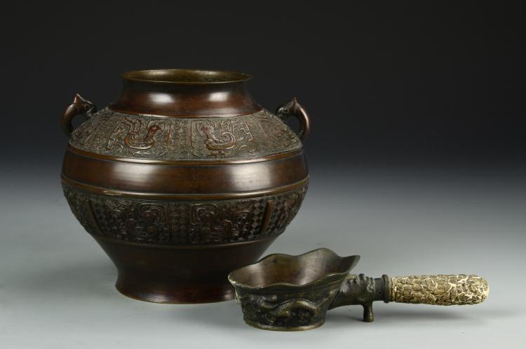 Chinese Century Bronze Jar