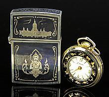 Two Thai Silver Items