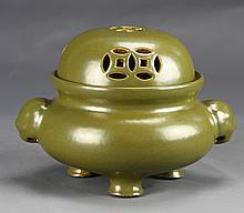 Chinese Covered Tea Dust Censer