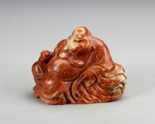Chinese Shoushan Stone Carved Buddha