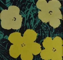 Framed Flower Art Screen Print