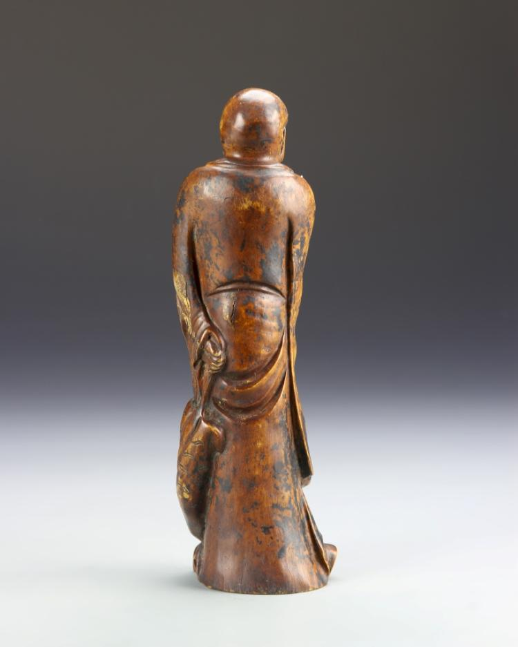 Chinese boxwood carved luohan