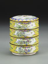 Chinese Cloisonne Stacking Bowls