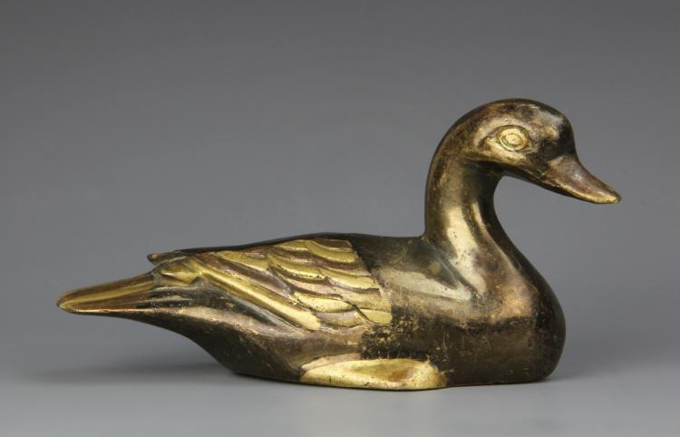 Chinese Mixed Metal Duck Paper Weight