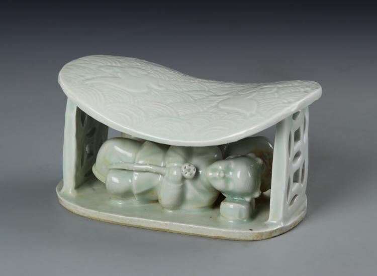 Chinese Antique Celadon Pillow