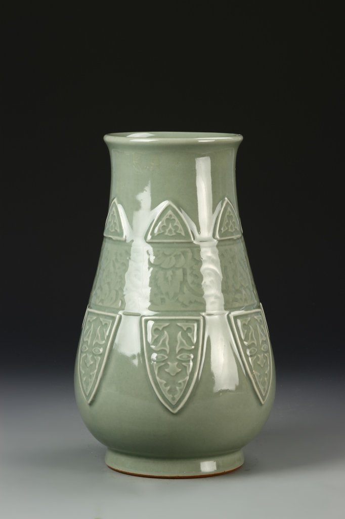 Chinese Celadon Cong Vase