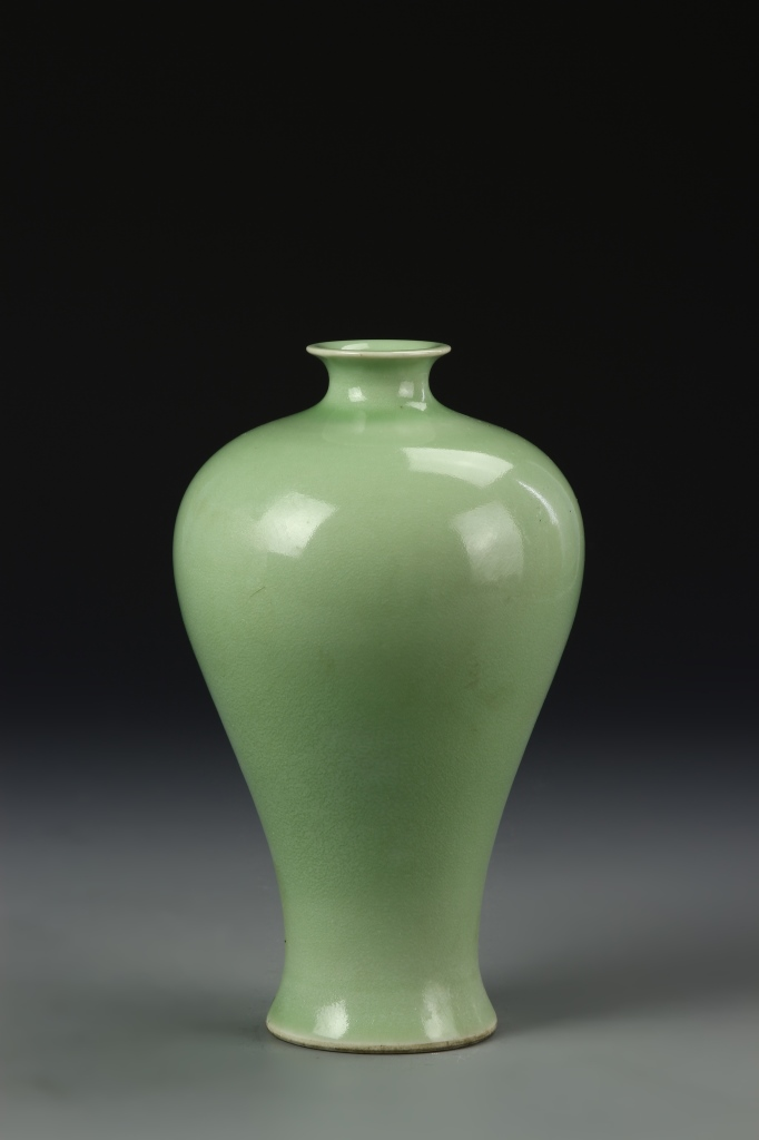 Chinese Celadon Glazed Meiping Vase
