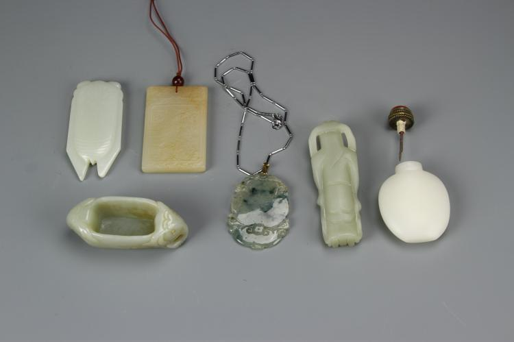 Six Chinese Jade Pendants