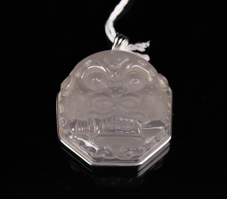 Chinese Crystal Foo Lion Head