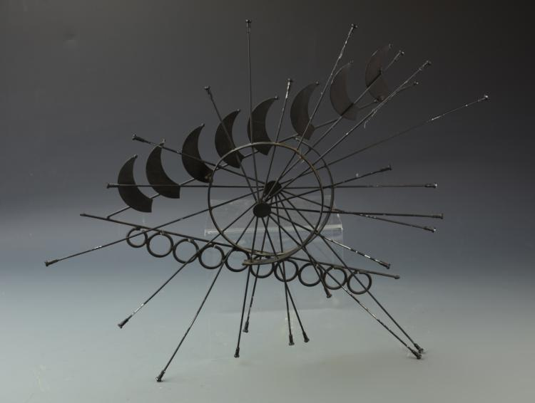 Modernist Abstract Metal Wall Sculpture