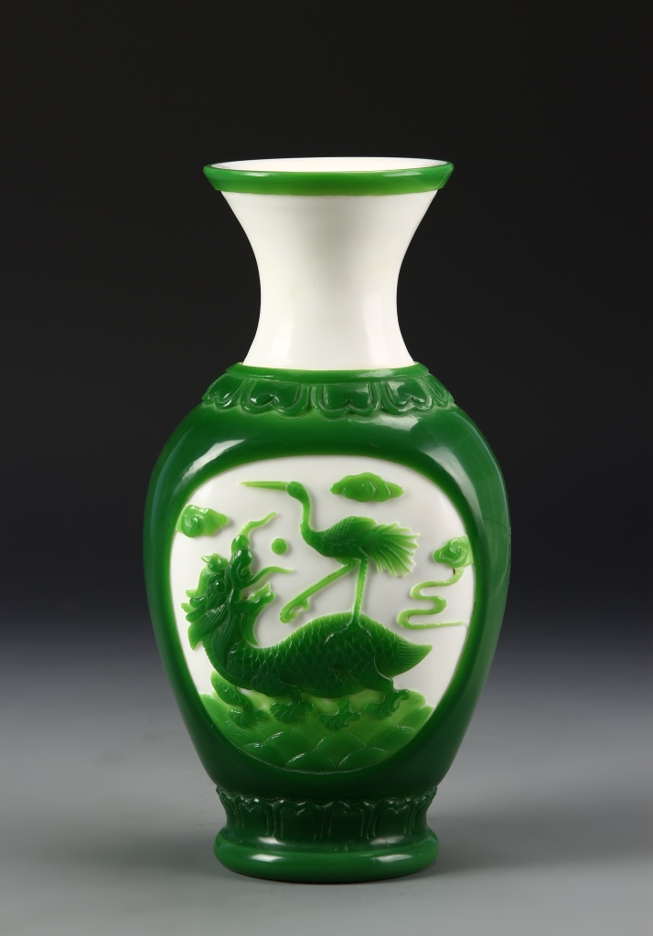 Chinese Peking Glass Vase
