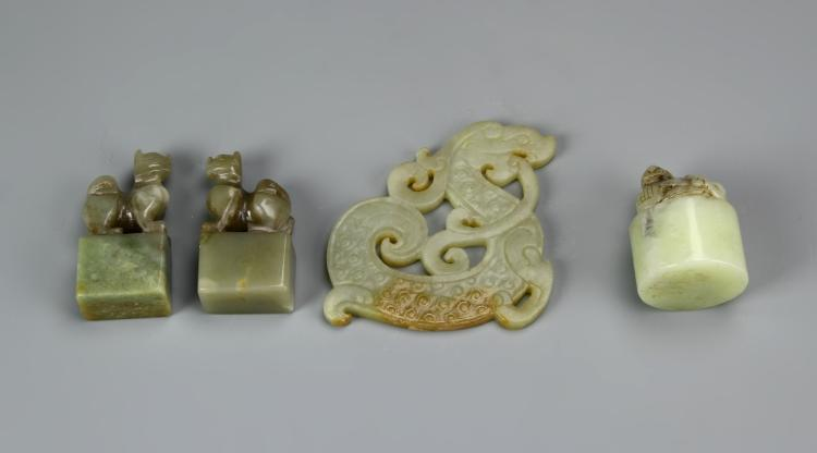 Four Chinese Jade Ornaments