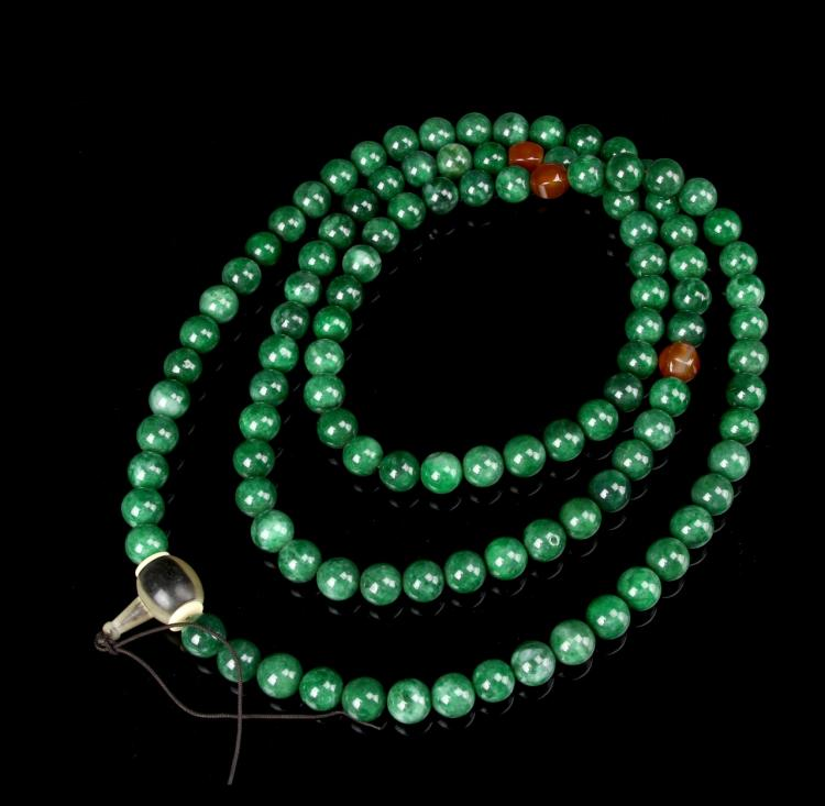 Chinese Malikite Beaded Necklace