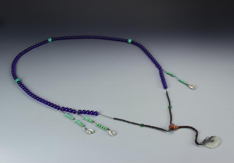 Chinese Peking Glass Beaded Court Necklace