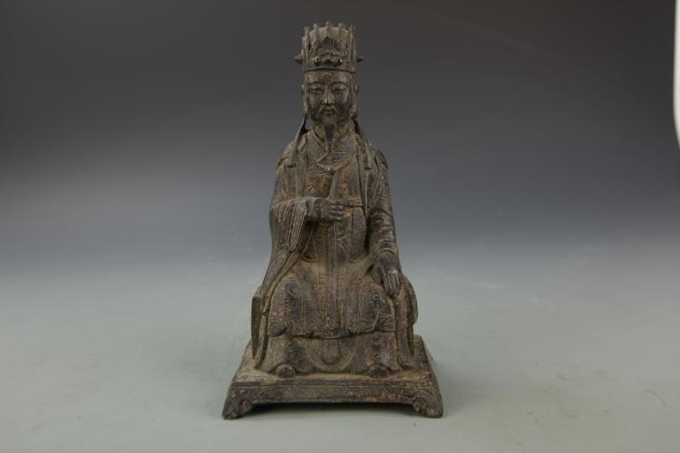 Chinese Metal Taoist figure
