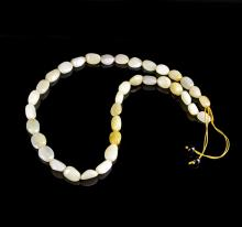 Chinese Jade Pebble Necklace