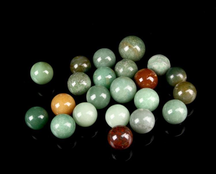 Twenty-Two Chinese Jade Beads