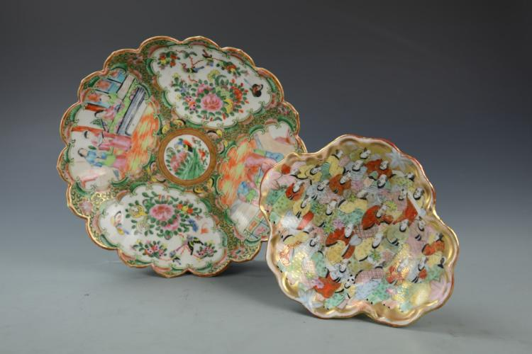 Chinese and Japanese Famille Rose Plates