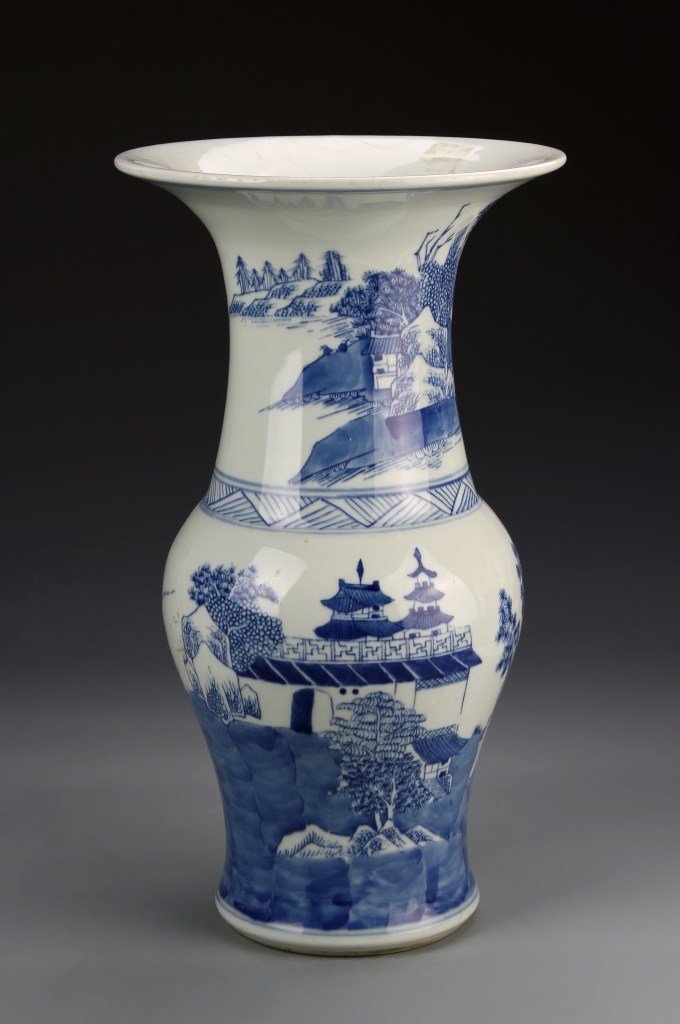 Chinese Blue and White Export Vase