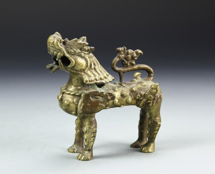 Japanese Brass Foo Lion