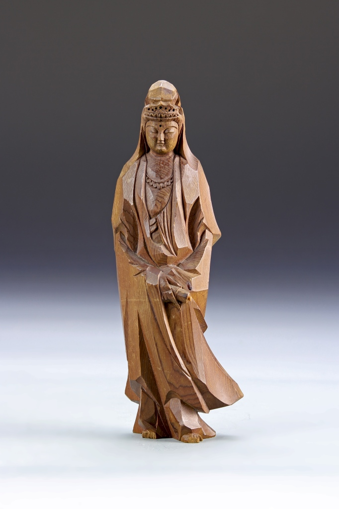 Chinese Carved Wood Guanyin Statue