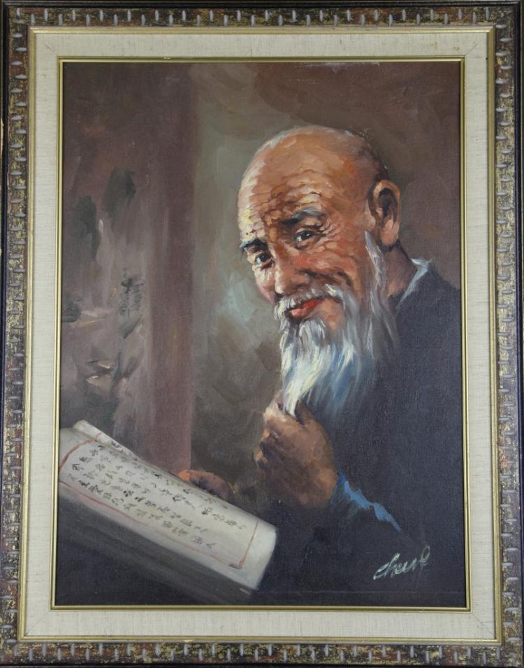 Framed Oil Painting of a Man