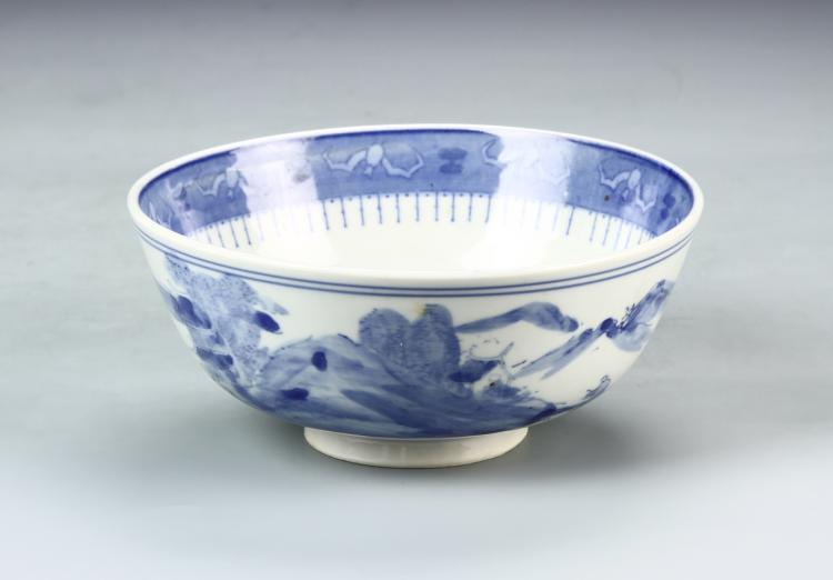 Chinese Blue and White Export Bowl
