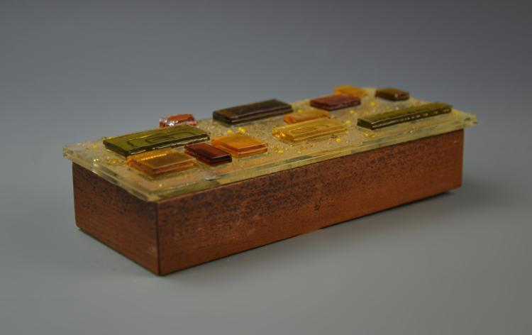 Mid-Century Fused Glass Box