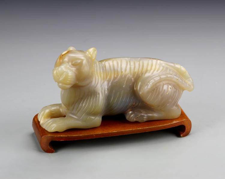 Chinese Carved Agate Mythical Beast