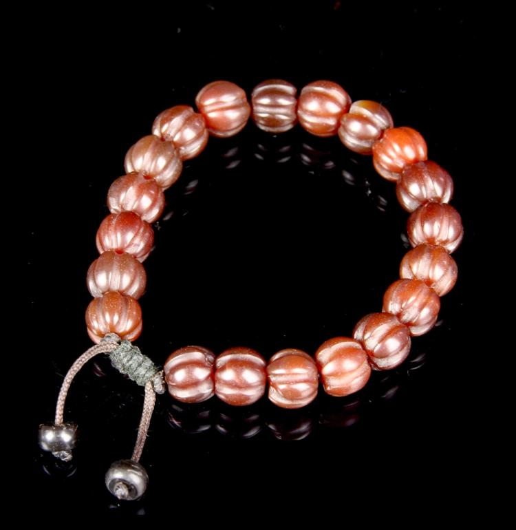 Chinese Agate Beaded Bracelet