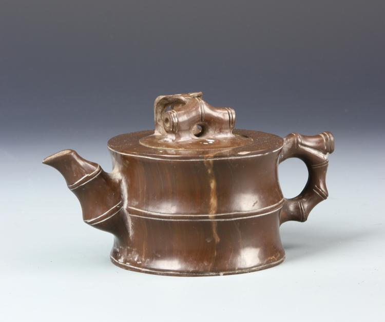Chinese Stone Carved Teapot