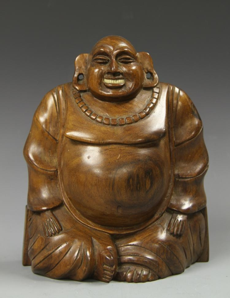 Chinese Hardwood Carved Buddha