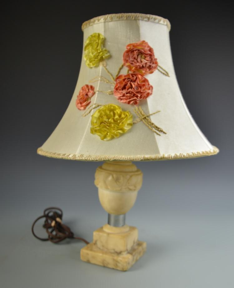 Alabaster Lamp and Shade