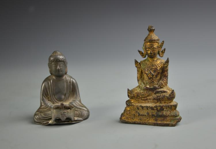 Two Buddha Figures
