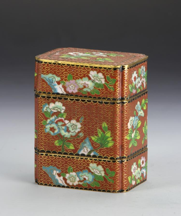 Chinese Cloisonne Stacking Boxes