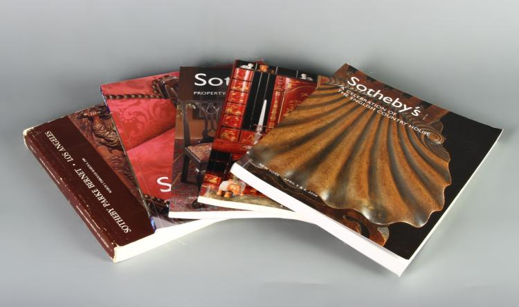 Five Sothebys auction catalogues