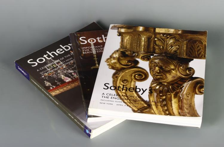 Three Sothebys Auction Catalogues