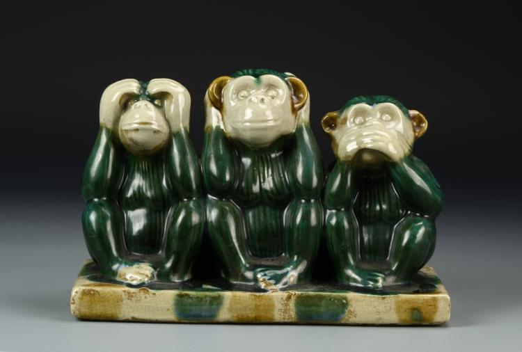 Chinese Pottery Monkeys