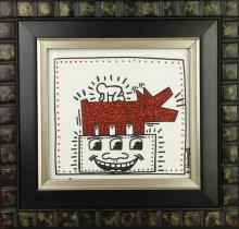 Keith Haring Ink On Paper Abstract Art