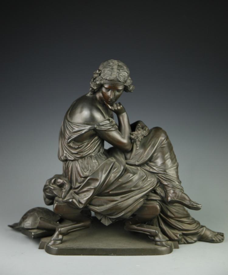 Bronze Lady Statue