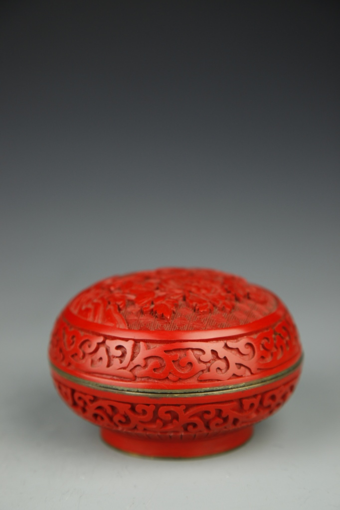 Chinese Cinnabar Ink Box
