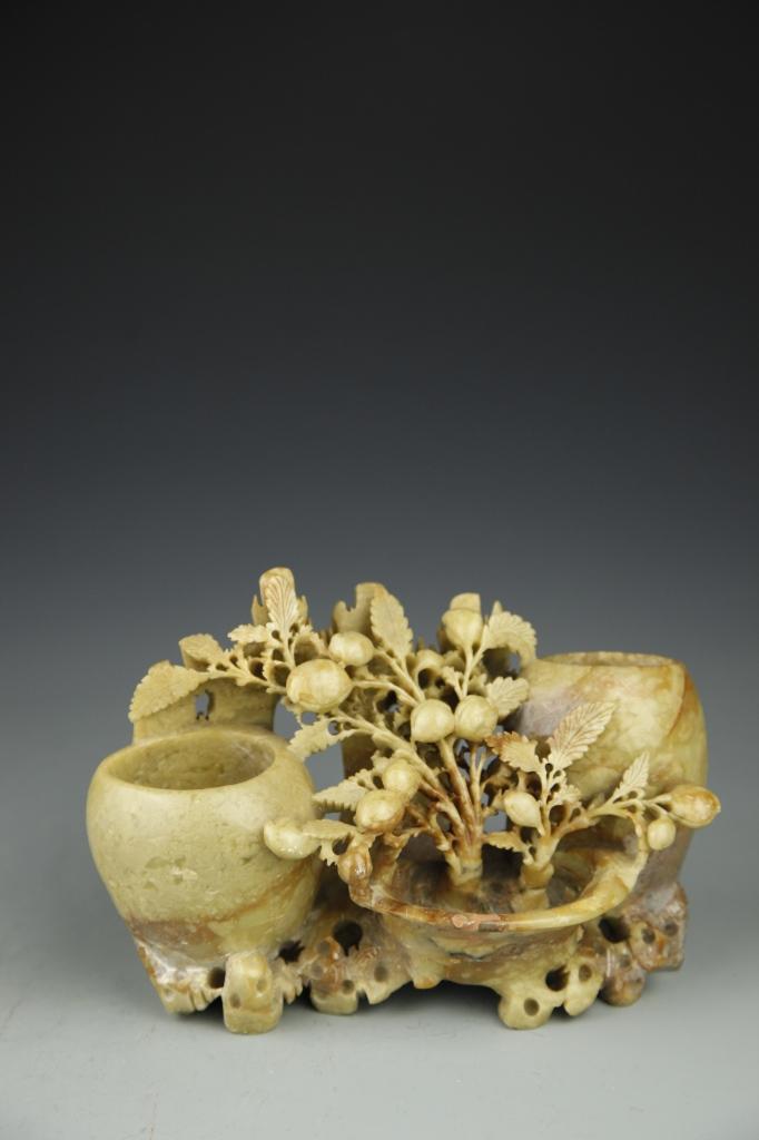 Chinese Shoushan Stone Brush Pot