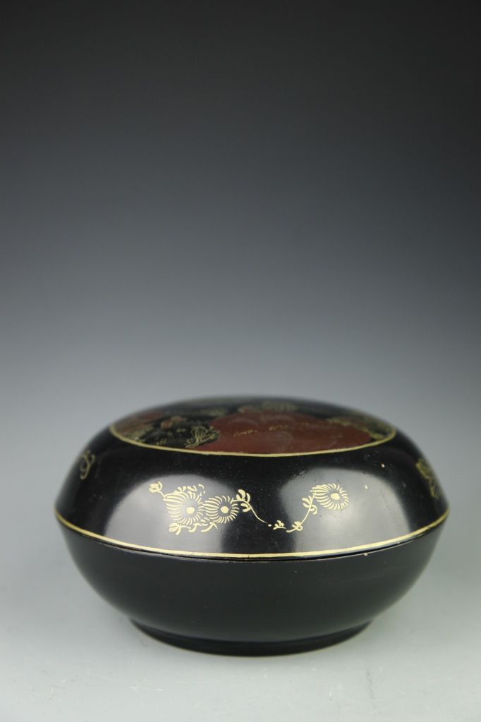Japanese Lacquer Box with Cover