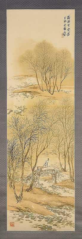Kansetsu Hashimoto(1883-1945) PLAYING BY THE RIVER