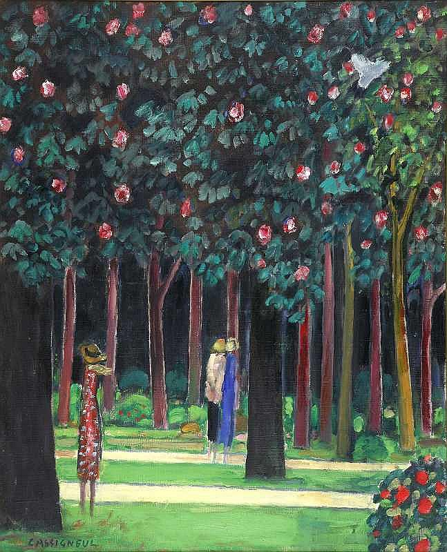 Jean Pierre Cassigneul(1935-)  FORET(FOREST)