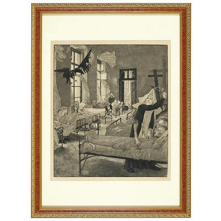 KLINGER Max(1857-1920) PEST (FROM VOM TODE II)
